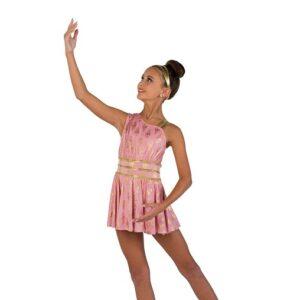 V2464  Foil Print Slinky Lyrical Dance Dress