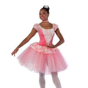V2475  Floral Print Lace Ballet Tutu