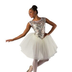 V2476  Sequin Scroll Mesh Ballet Tutu