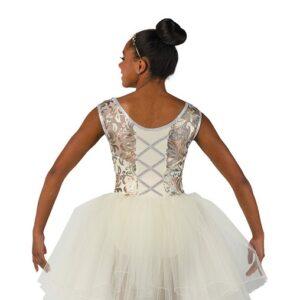 V2476  Sequin Scroll Mesh Ballet Tutu Back
