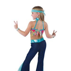 V2477  Floral Print Hippy Jazz Dance Costume Back