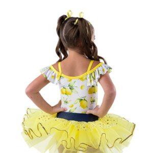 V2482  Lemon Print Glitter Tap Dance Costume Back
