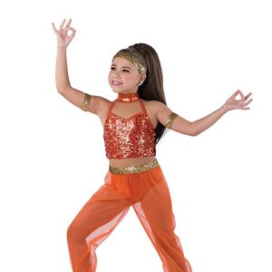 V2486  Snuff Out The Light Arabian Character Jazz Dance Costume