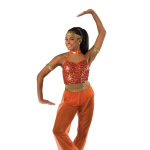 V2486  Snuff Out The Light Arabian Character Jazz Dance Costume B