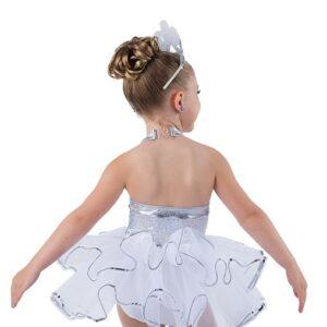 V2490  Sequin Christmas Tap Dance Costume Back