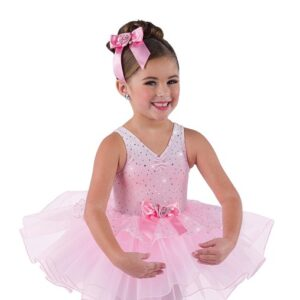 V2492  Kids Sequin Glitter Ballet Tutu