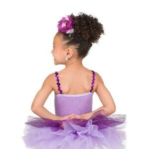 V2493  Curtsy Kids Glitter Velvet Ballet Tutu Back