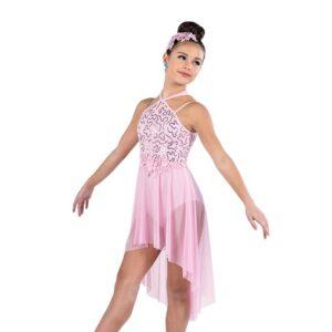 V2495Y  Sequin Spandex Lyrical Dance Dress