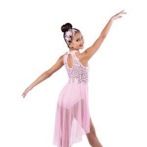 V2495Y  Sequin Spandex Lyrical Dance Dress Back