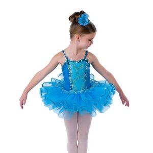 V2496  Kids Glitter Velvet Ballet Tutu