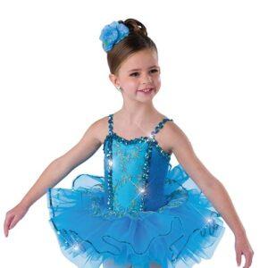 V2496  Kids Glitter Velvet Ballet Tutu A