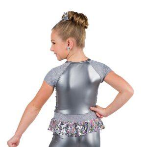 V2502  Star Girl Multicolour Sequin Foil Jazz Dance Shortall Back