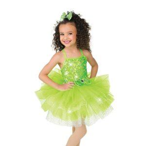V2503  Kids Pailette Sequin Tap Dance Costume