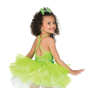 V2503  Kids Pailette Sequin Tap Dance Costume Back