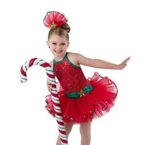 V2506  Christmas Is Glitter Tap Dance Costume