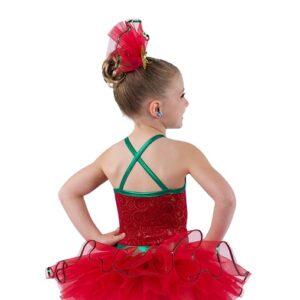 V2506  Christmas Is Glitter Tap Dance Costume Back