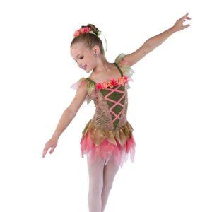 V2508  Floral Lace Ballet Leotard