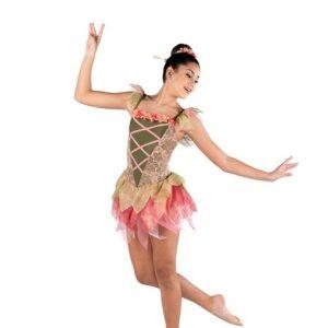 V2508  The Sylph Floral Lace Ballet Leotard With Tutu Skirt