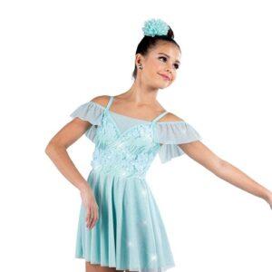 V2511  Sequin Embroidered Mesh Lyrical Dance Dress A