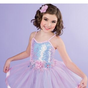 V2514Y  Iridescent Sequin Kids Ballet Tutu