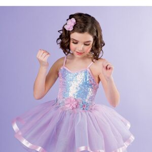 V2514Y  Iridescent Sequin Kids Ballet Tutu B