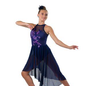 V2526Y  Floral Mesh Lyrical Dance Dress