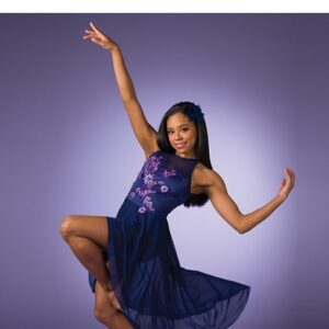 V2526Y  Floral Mesh Lyrical Dance Dress A