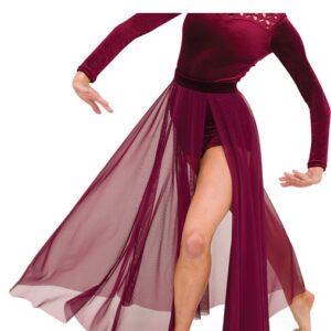 V2528 SK  Dimensions Long Mesh Acro Dance Skirt