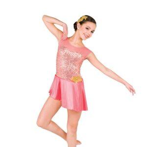 V2530  Sequin Spandex Lyrical Dance Dress