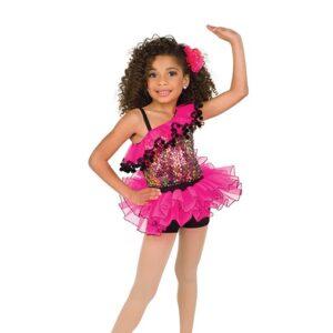 V2531  Multicolour Mesh Sequin Jazz Dance Costume