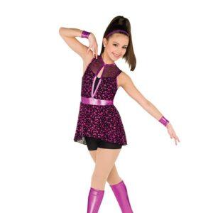 V2532  Foil Polka Dot Jazz Dance Shortall