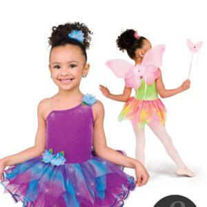 V2540  Kids Velvet Fairy Ballet Dance Costume