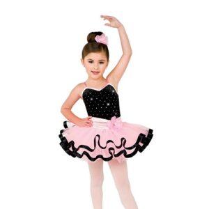 V2541  Kids Sequin Dot Velvet Ballet Tutu