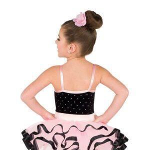 V2541  Kids Sequin Dot Velvet Ballet Tutu Back