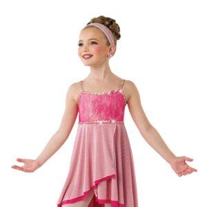 V2547  Safe And Sound Kids Shimmer Tiedye Lyrical Dance Dress
