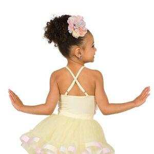 V2550Y  Rainbow Rosette Tap Dance Costume Back